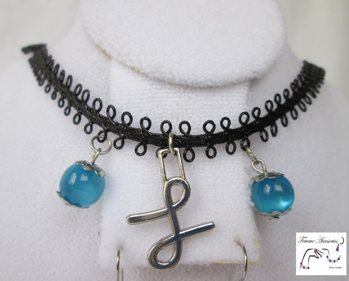 22cb77852728 Mujer Collares Joyería Bisutería Choker Encaje Azul C165 -   17.000 ...