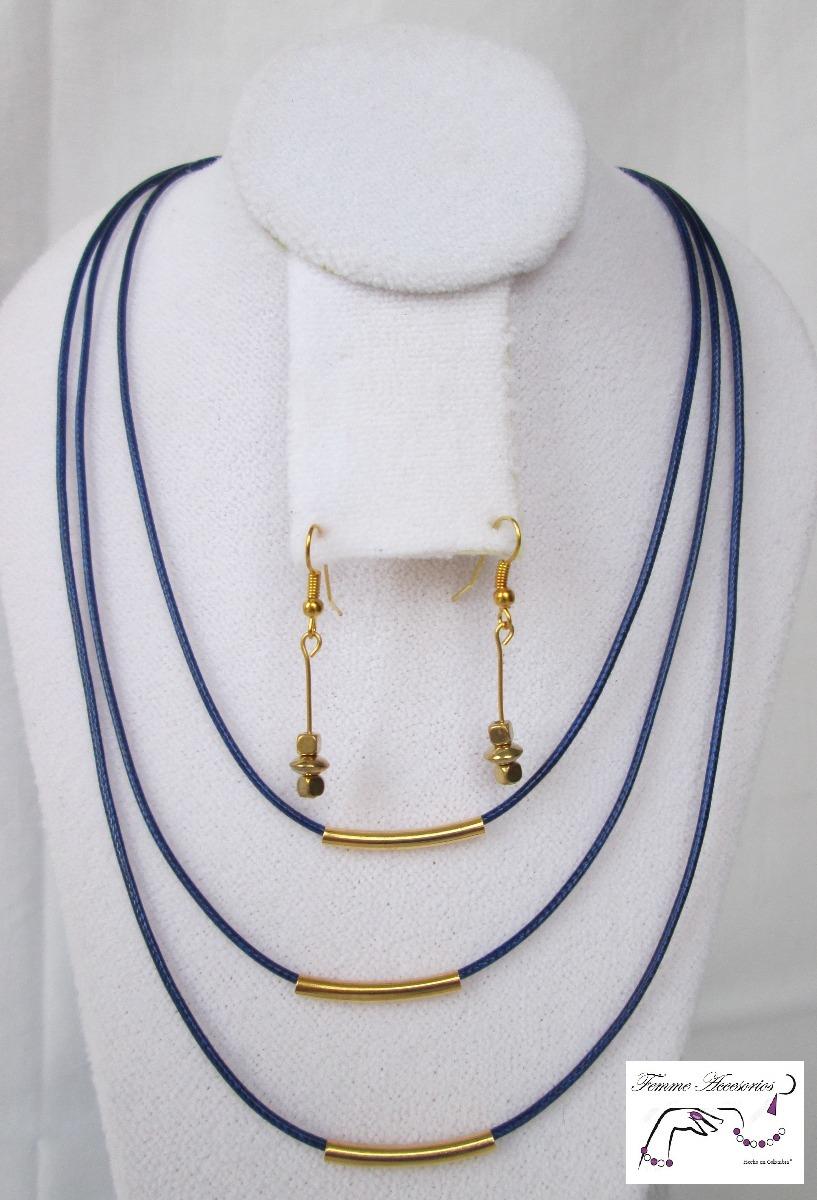90a7e70b3712 mujer collares joyería bisutería collar azul gold c152.1. Cargando zoom.