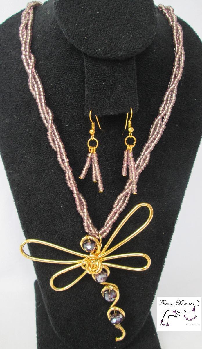 2a2ac198f405 Mujer Collares Joyería Bisutería Collar Libélula C149 -   45.000 en ...