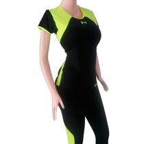 Mono Largo Y Camisa Conjunto Para El Gym En Colores Neón