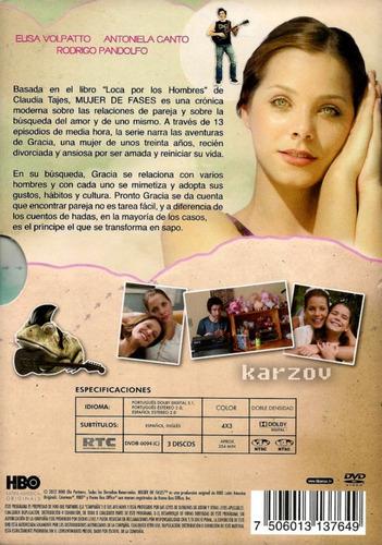 mujer de fases primera temporada serie de tv en dvd