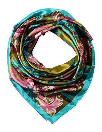 mujer de sensacion de seda 100% bufanda de cabeza para dormi
