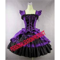 Vestido Victoriano Gotico Lolita Nuevo Disfraz Halloween