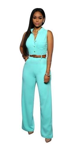 mujer enterizo pantalon jumpsuit playsuit elegante oficina
