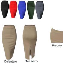 Falda Ejecutiva Lápiz Tubo Elegante De Moda