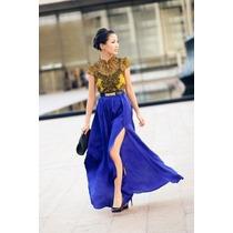Maxi Faldas Con Abertura, Vestidos Corp Top Maxi Faldas