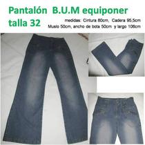 Pantalon Bota Ancha Bum Equiponer Talla 32 Nuevo