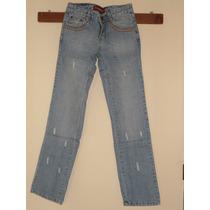 Pantalon Jeans Dama Corte Clasico Modelo Brillantes Talla 30