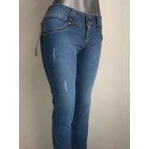 Bello Pantalon Dama Blue Jeans Levanta Cola Strech Oxxitech