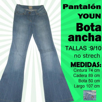 Pantalon Bota Ancha Youn Talla 9/10 Nuevo