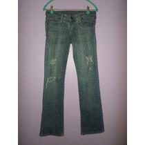 Pantalon Jean De Dama Con Rotos Delanteros Talla 10