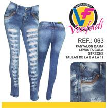 Jeans De Dama Levanta Cola Strechs