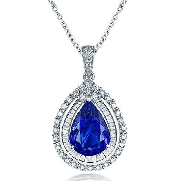 ec694291c9e9 Mujer Joyas De Oro Blanco De 14 quilates Brillante Diamante ...