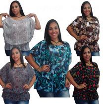 Blusas Blusones Para Dama En Chifon Transparente Gorditas