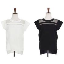 Bellisima Blusa Con Transparencia Talla S Color Blanco O Neg