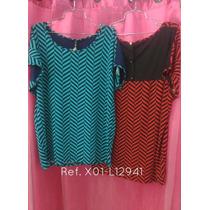 Blusas Tallas Extra Grande De Dama Casuales Y De Vestir P12