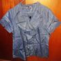 Camisa/blusa Azul Con Rayas,elegante, Ejecutiva, Oficina (l)