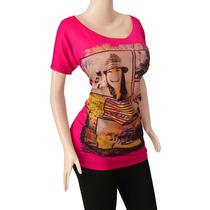 Blusa Dama Diseño Estampado Moda Para Gorditas Ref: 2203
