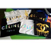 Franelas De Dama Céline, Ysl, Chanel, Etc. 100% A La Moda!