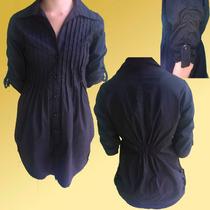 Camisa, Blusón Negro, De Vestir, Talla M