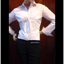 Camisa Blanca Ejecutiva Para Dama Talla S-m-l