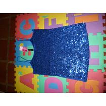 Franelilla De Fiesta Lentejuelas Azul Rey Plus Gordita