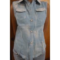 Blusa Para Damas De Bluejeans Con Encaje Importadas S/m/l/xl