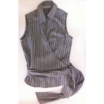 Blusa Marca Pima Cotton, Talla M, Rayas,usada