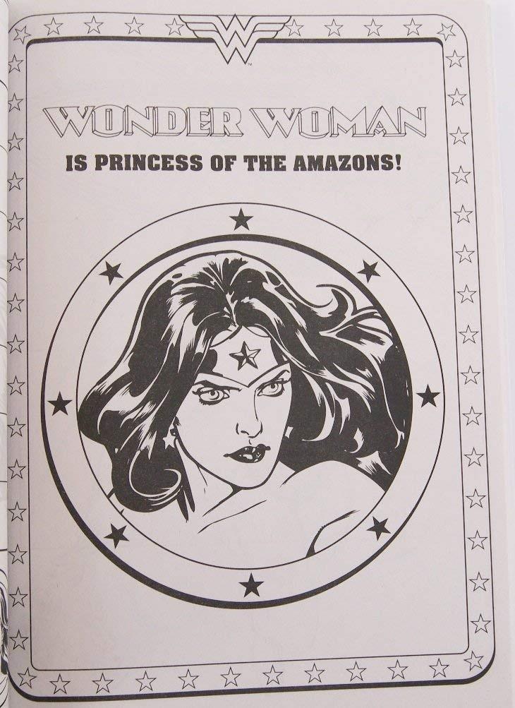 Mujer Maravilla Para Colorear Y Libro De Actividades - 96 Pá ...