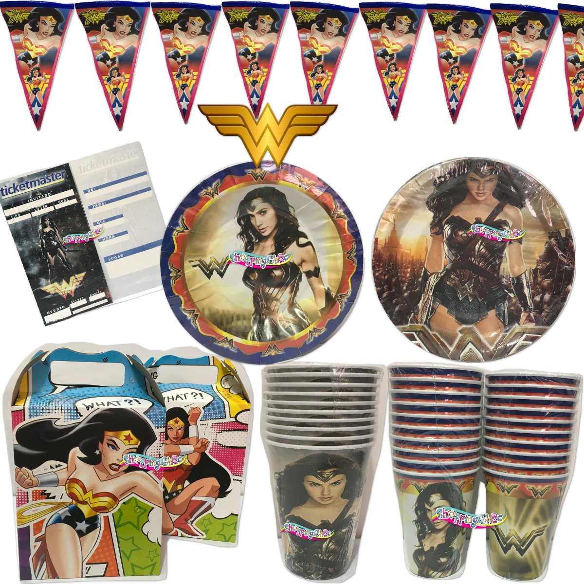 Mujer Maravilla Wonder Woman Fiesta Arts Platos O Vasos O - $ 35.00 ...