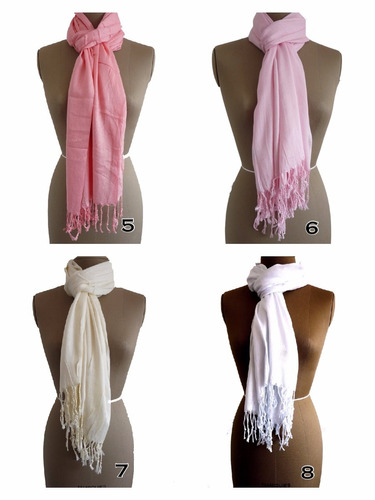 mujer moda bufandas