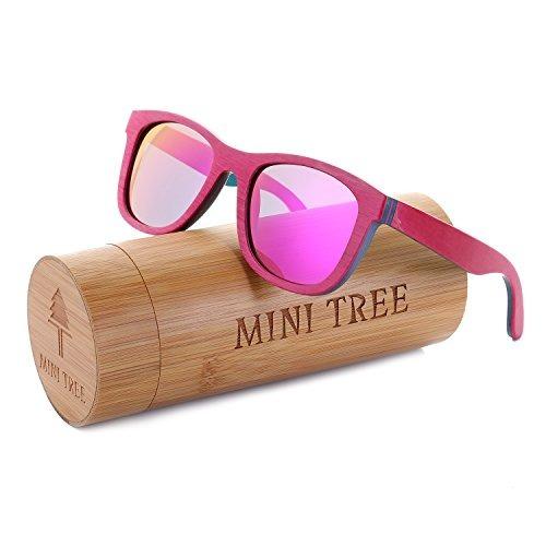 mujer monopatin de madera anteojos de sol caminante polariza