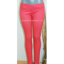 Espectaculares Pantalones Leggins En Tela De Drill Strech