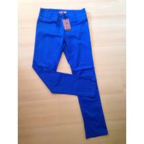 Pantalon Casual De Vestir Azul Electrico