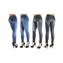Leggins Tipo Jeans Licra Gruesa Gamuzados Por Dentro