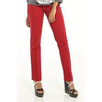 Pantalón De Vestir Rojo Tubito