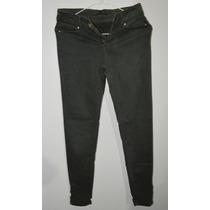 Pantalon Tubo Jean Verde Zara Basic Dama