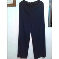 Pantalon De Vestir De Dama Bota Ancha Color Negro