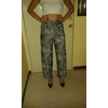 Pantalones Estampados Bota Ancha A La Moda