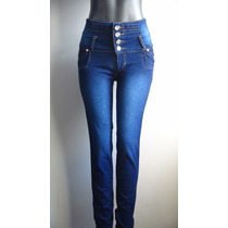 Pantalon Blue Jeans Dama Studio F Fashion Alto Talla 8