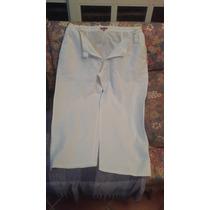 Pantalòn Blanco De Lino -talla Plus -usado Sin Detalles