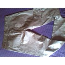 Pantalones Metalizados Dorados Tipo Jeans De Vestir.