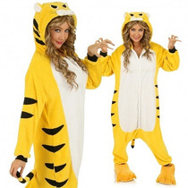 Pijama Kigurumi Polar De Tigre O Tigresa Onesie Para Adultos