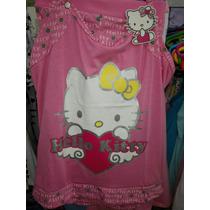 Pijamas De Algodon Hello Kitty Para Dama