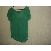 Polera Marca Zara Color Verde Talla S