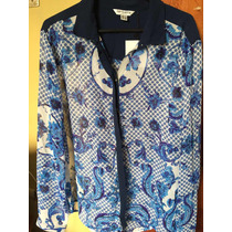 Blusa Estampada Lu By Lolita. Extra Large. Nueva!!