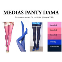 Medias Panty Dama Hermsos Colores Cosplay Moda Estilo 40-75k