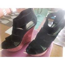 Bellas Sandalias O Plataformas En Color Negro Talla 40