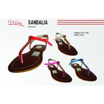 Sandalias Con Pedrería Fina Para Chicas!