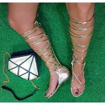 Sandalias Romanas Gladiadoras Mujer Moda Calzado Dama Casual